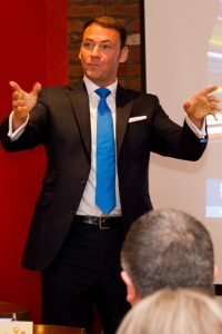 Kevin Doran - speaking at K-Club breakfast Liverpool Mar 15