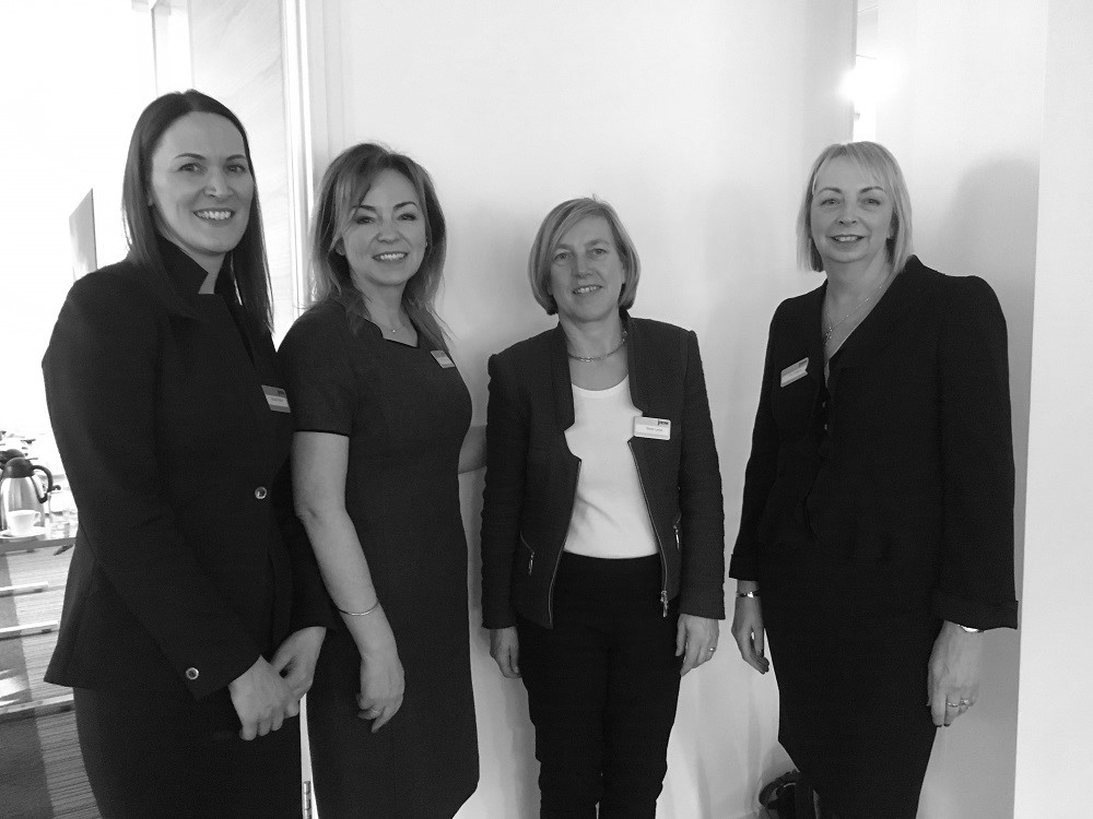 K-Club Women's Event 9.10.18 (L-R Elspeth Kinder, speaker Vanda Murray OBE, Sarah Lynch, Sue Weighell)